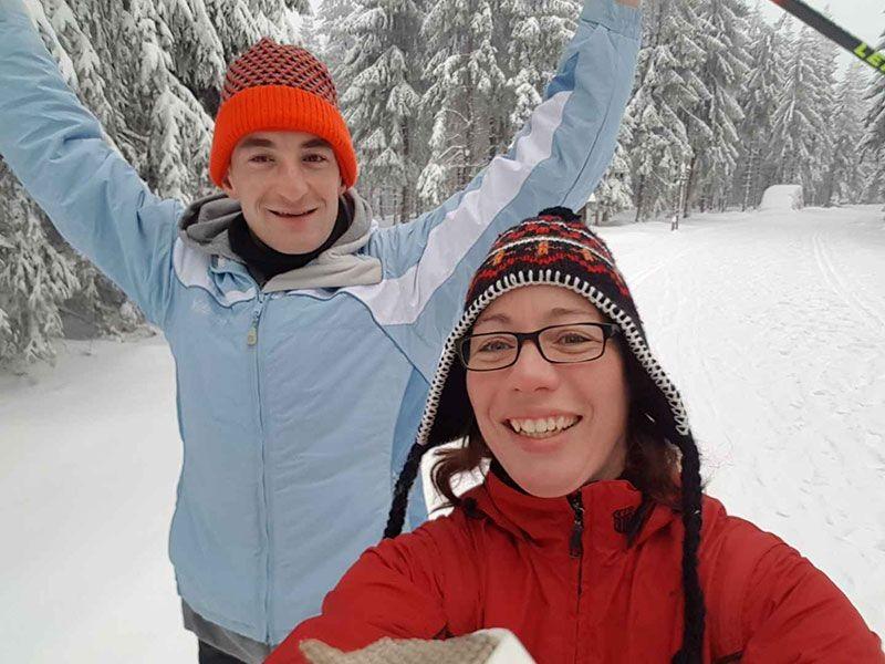 Rebecca und Chris aus Emmerich erleben das Winterflowfeeling in den Regionen Großarltal im Salzburger Land und Dachstein Salzkammergut